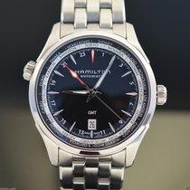 Hamilton JAZZMASTER GMT AUTO Black Dial & Steel Bracelet...