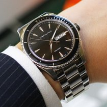 Hamilton JAZZMASTER SEAVIEW DAY DATE QUARZO Black-Steel...