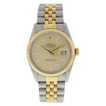 Rolex Oyster Perpetual Datejust 16013 Two Tone Watch