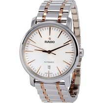 Rado DiaMaster Automatic Three Hands Full Steel PVD-White Dial