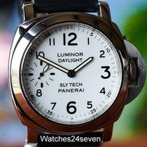 Panerai Pre Vendom 5218-207A Slytech Daylight White Dial 44mm