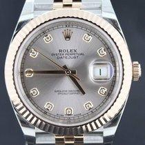 Rolex Datejust II 41MM Gold/Steel Sundust Diamond Dial Full Set