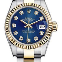 Rolex Women's New Style Two-Tone Datejust with Custom Blue...