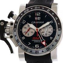 Graham Chronofighter Oversize GMT Stahl Automatik 47 mm
