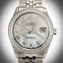 ロレックス (Rolex) 36mm DateJust Custom White MOP Diamond Dial...