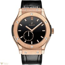 Hublot Classic Fusion Classico 18k Rose Gold Automatic Leather...