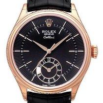 Rolex Cellini Dual Time 50525 Everose-Gold Zifferblatt Schwarz