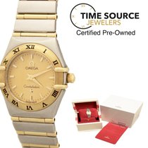 Omega Constellation 18K Gold Stainless Steel 22mm B&P Watch