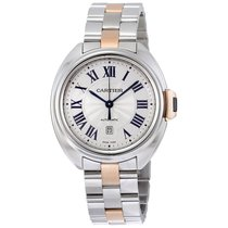 Cartier Cle de Automatic Silver Dial Ladies Watch