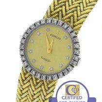 Corum 18K 750 Diamond Bezel Dial 21mm Yellow Gold Quartz Watch