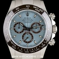 Rolex Platinum Ceramic Bezel Ice Blue Dial Daytona B&P ...