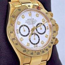 Rolex Daytona Zenith 16528 18k Yellow Gold Factory Diamond...