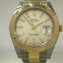 Rolex Datejust II 41 mm Edelstahl / Gelbgold Ref. 116333 ivory