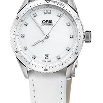 Oris Artix GT Date, Diamonds, Ceramic Top, White, Leather