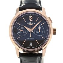 Vulcain 50s Presidents' Chronograph 42 Pink Gold Charcoal