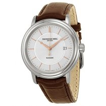 Raymond Weil Men's Maestro Brown Leather AutomaticSilver...