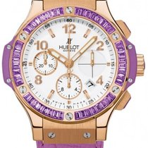 Hublot Big Bang Gold Tutti Frutti Purple 18K Rose Gold Leather...