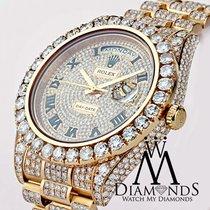 Rolex Day Date Ii President 41mm Rose Gold 33 Carat Custom...