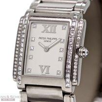 Patek Philippe Twenty4 Ref-4910-20G-011 18k White Gold Two...