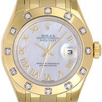 Rolex Lady Datejust Pearlmaster 18k Yellow Gold Ladies Diamond...