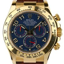 Rolex Cosmograph Daytona 18ct Yellow Gold Leather Strap 116518