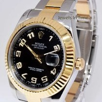 Rolex Datejust II 18k Gold/Steel Black Dial 41mm Mens Watch...