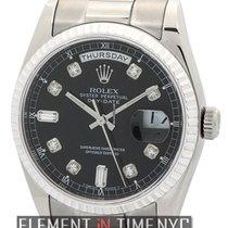 Ρολεξ (Rolex) Day-Date President 18k White Gold Black Diamond...