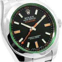 ロレックス (Rolex) Rolex Milgauss Green Crystal 116400GV w/ Rolex Card