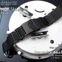 Strapcode 20mm Flexi 316 SS Milanese Mesh Band, PVD BK