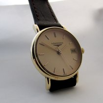 Longines 14ct golden slim model, serviced