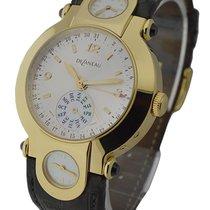 DeLaneau GTQ000 YG GA099 C Yellow Gold 3 Time Zone Calendar -...