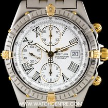 Breitling S/Steel & 18k Yellow Gold White Dial Crosswind...
