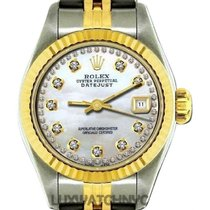 Rolex Datejust Ladies 26mm White Mother Of Pearl Dial Yellow...