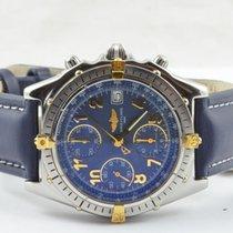 Breitling Chronomat Herren Uhr Automatik Stahl/gold 81950 Schwarz