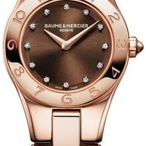 Baume & Mercier Ladies  M0A10090  Linea  Diamond Dial 18kt...