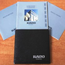 Rado vintage warranty watch or chronograph papers and booklets