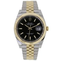 Rolex DATEJUST 41mm Steel & 18K Yellow Gold Watch Jubilee...
