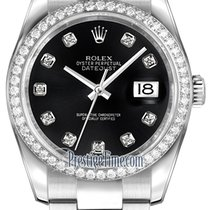 Rolex Datejust 36mm Stainless Steel 116244 Black Diamond Oyster