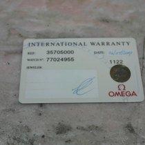 Omega warranty card used for speedmaser moonwatch