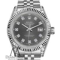 Rolex 26mm Datejust White Gold & Stainless Steel Dark Grey...