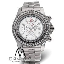 Breitling Diamond Breitling Super Avenger A13370 White Face...