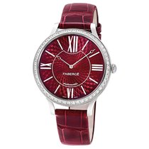 Fabergé White Gold Flirt 39mm - Red Dial