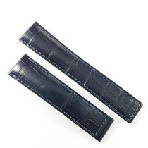 Ταγκ Χόιερ (TAG Heuer) 20mm alligator leather strap  dark blue...