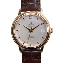 Omega De Ville 18k Rose Gold White Automatic 424.53.33.20.05.001