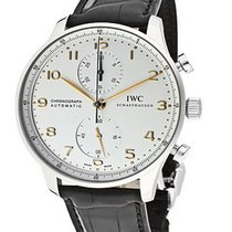 IWC IW371445 Portuguese Chrono Automatic in Steel - on Black...