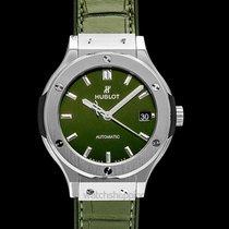 Hublot Classic Fusion Green Titanium Green Titanium/Leather-Ru...