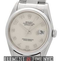 Rolex Datejust Stainless Steel 36mm Silver Jubilee Dial F Serial
