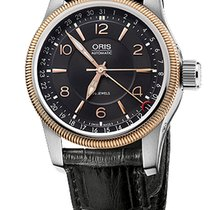 Oris Big Crown Pointer Date, Black Guilloche Dial, Leather