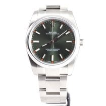 Rolex Oyster Perpetual 34mm olive index dial 114200