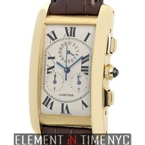 Cartier Tank Collection Tank Americaine Chronoflex 18k Yellow...